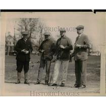 1920 Press Photo Secretary of Interior J Barton Paine, M Thompson golfing