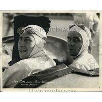 1932 Press Photo Driver Sam Ross & Ollie Wilkinson in Mill Special car at race