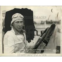 1928 Press Photo Race car driver Sam B Ross at Indianapolis Speedway - net21873