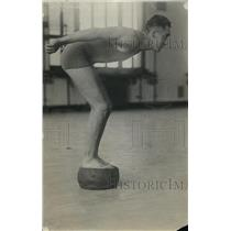 1918 Press Photo Portrait Of Laubis The Swimmer - net22160