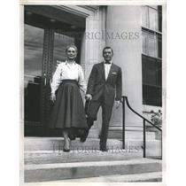 1954 Press Photo David Wayne Joan FOning Actor - RRR52295