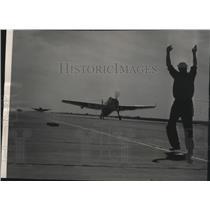 1953 Press Photo Navy Avenger torpedo will fly over Spokane's Lilac parade