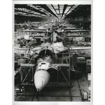 1967 Press Photo F-111 swing-wing US aircraft produced at Fort Worth Division