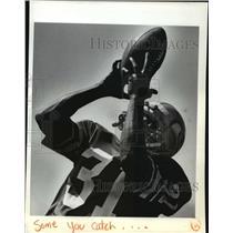 1982 Press Photo Football Seattle Seahawks action - spa33172