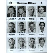 1989 Press Photo Football Pro Group Houston Oilers - spa33196