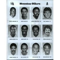 1989 Press Photo Football Pro Group Houston Oilers - spa33197