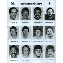 1989 Press Photo Football Pro Group Houston Oilers - spa33198