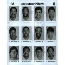 1989 Press Photo Football Pro Group Houston Oilers - spa33200