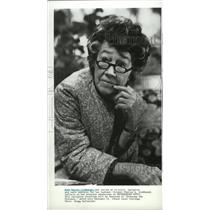 1984 Press Photo Anne Morrow Lindbergh interviewed on Crossing the Distance.