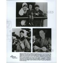 1990 Press Photo Charles Lindberg and family on The American Experience special.