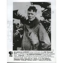 1990 Press Photo Charles Lindbergh is profiled on The American Experience.