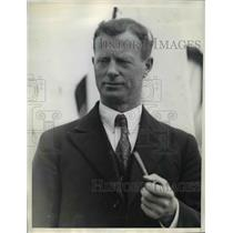 1934 Press Photo Captain Gjertson Pictured Here On His Arrival At Los Angeles