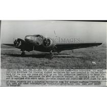 1941 Press Photo Twin-motor all metal low-wing monoplane for training student