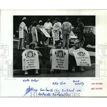 1987 Press Photo Football Pro, striking Seahawks at Kirkland Washington