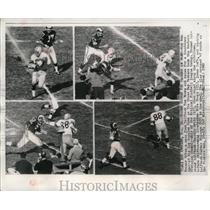 1962 Press Photo Packer end Don Kramer takes a pass and races for  a touchdown