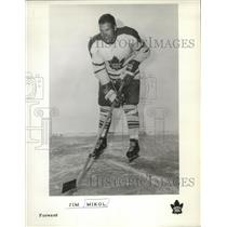 1962 Press Photo Toronto Maple Leafs forward Jim Mikol - nes52023