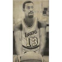 1971 Press Photo Los Angeles Lakers basketball star Wilt Chamberlain - nes52306