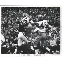 1964 Press Photo Herb Adderley of the Packers caught the ball intended for Bears