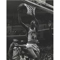 1980 Press Photo George Gervin San Antonio Spurs - mjs03968