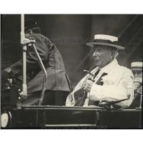 1912 Press Photo John D. Rockefeller arrives at Old Euclid Avenue Baptist Church