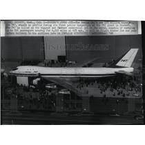 1968 Press Photo The Boeing Co Superjet 747 - spx08087