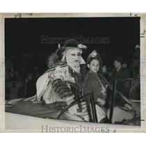 1957 Press Photo New Orleans Mardi Gras parade float - noca00105