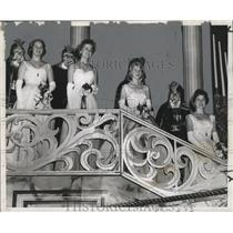 1959 Press Photo Couples in Twelfth Night, Mardi Gras, New Orleans - noca00129