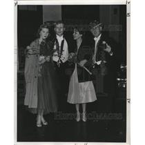 1953 Press Photo Carnival Committee Grace Parker, Pitkin, Margot Bouden & Wynn