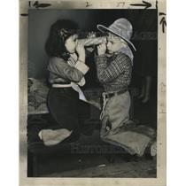 1947 Press Photo Carnival Revelers - noca00878