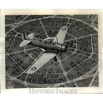 1940 Press Photo Basic training plane by Flying Cadet at Randolph Field, Texas