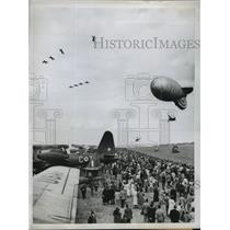 1955 Press Photo Air Show Commemorate Battle of Britain in WWII Kent England