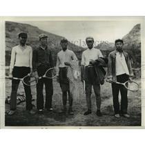 "1937 Press Photo Tennis playing Reds the ""Bandits"" - mjx18817"
