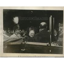 1928 Press Photo King Amanoullah of Afghanistan, Queen Sourya in Paris, France