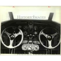 1981 Press Photo Controls of an airplane - cva37704