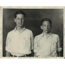 1927 Press Photo Phil Herskovitz, Morey Kaplan - net25948