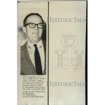 1966 Press Photo New Buffalo Bills coach Joe Collier in NY - net26192