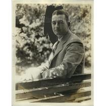 1930 Press Photo William Shores, Philadelphia Athletics - net27277