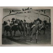 1921 Press Photo Practice polo match of Club team vs Americans at Ranelagh