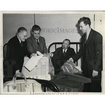 1940 Press Photo White Sox Eddie Smith, Taft Wright, Jim Dyles, Mike Tresh in CA