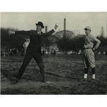 1923 Press Photo Asst Secretary of War Dwight Davis throws out baseball