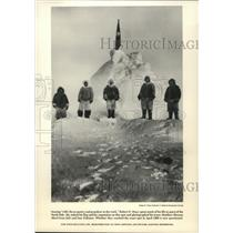 1909 Press Photo Robert E. Peary during his quest for the North Pole.