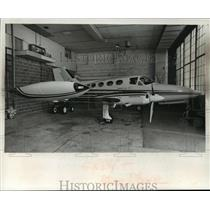 1976 Press Photo Blue Cross of Wisconsin Cessna 414 - mja38598