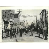 1934 Press Photo View of Front Street in Nome, Alaska. - mjx20214