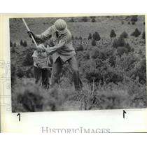 1983 Press Photo Bureau of Land Management-temporary helicopter landing site