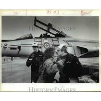 1984 Press Photo Oregon Air National Guard-Sorenson,Anderson,Desrochers
