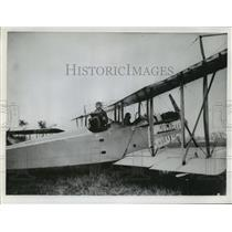 "1967 Press Photo Historical Aerial Photos-Curtiss ""Canuck"" With His Plane"