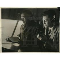 1930 Press Photo Gen J.E. Fetdret and Herbert Honry, Jr. - nef36317