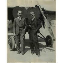 1929 Press Photo Maury Morrison & Leo Norris Endurance Pilots - nef38131