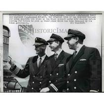 1961 Press Photo Original Crew Members of Hijacked Eastern Air Lines Electra