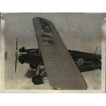 1931 Press Photo Scale Model Boeing 203 Trainer Airplane - nef39734